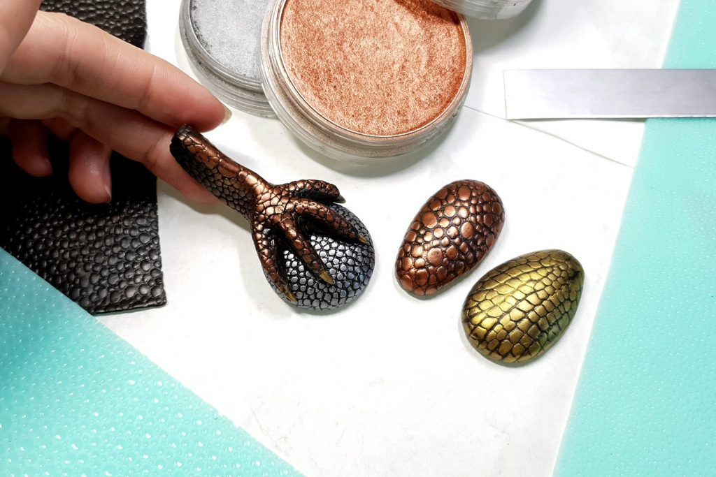 Free Tutorial: Dragon's look cabochons and quick Dragons Paw 7