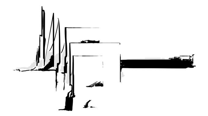 Line drawing of bridge