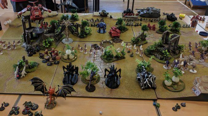 Warhammer game in progress