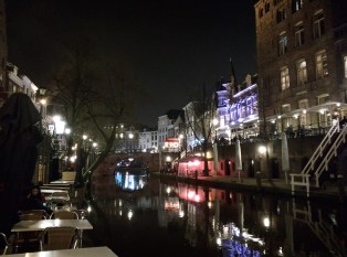 Outside the conference dinner, Utrecht looks beautiful at night