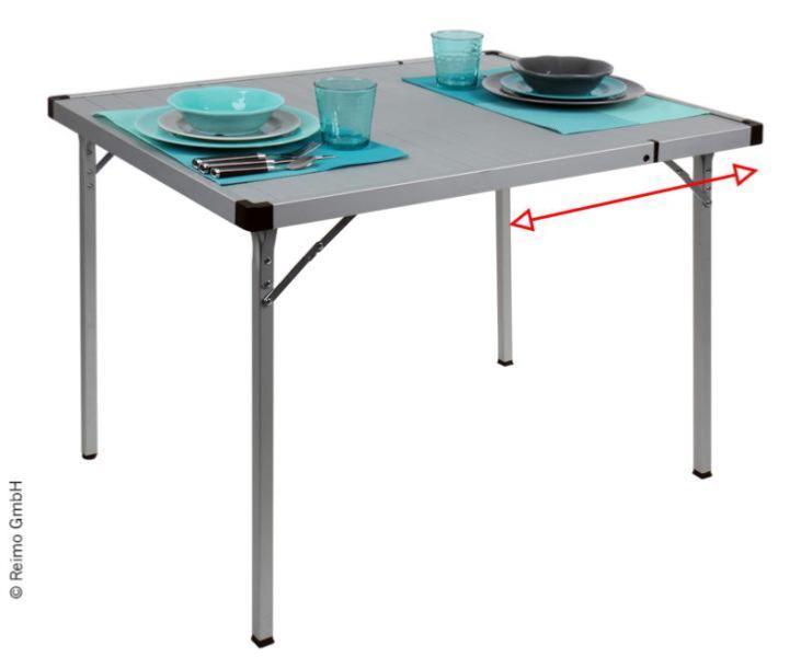 table de camping extensible turku pour 2 a 6 personnes
