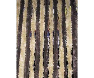 rideau chenille anti insectes brun beige 56x185 cm