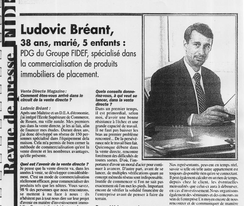 La revue de presse de Ludovic Bréant (époque FIDEF, 2eme partie)