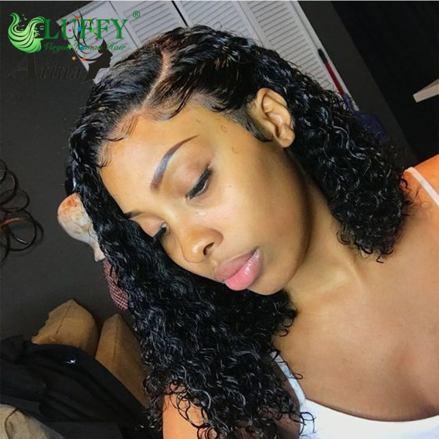 wet and wavy bob lace front wigs 13x6 180% preplucked