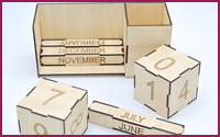 Wooden Desk Calendar Organizer Model (C)