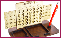 Wooden Desk Calendar Organizer Model (D)
