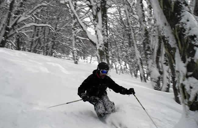 Foto de esquiador en Cerro Catedral Bariloche Río Negro