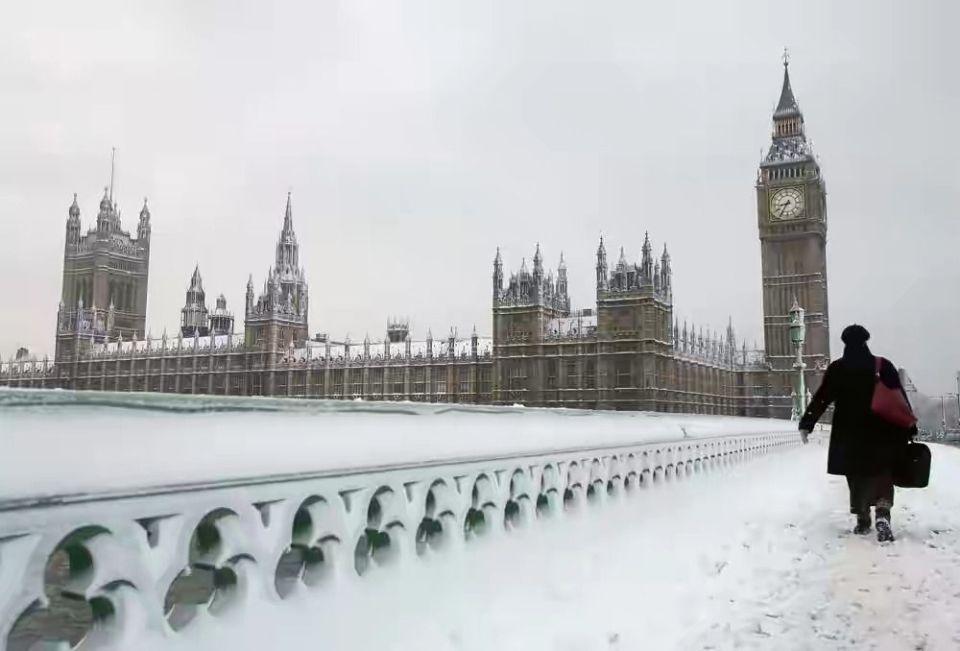visitar londres bajo la nieve