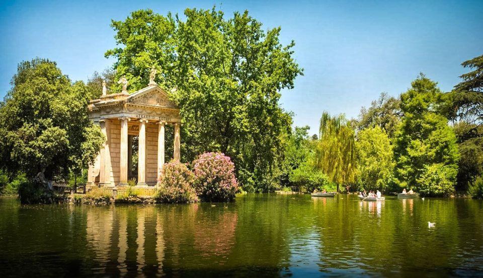 Villa Borghese, jardines en roma
