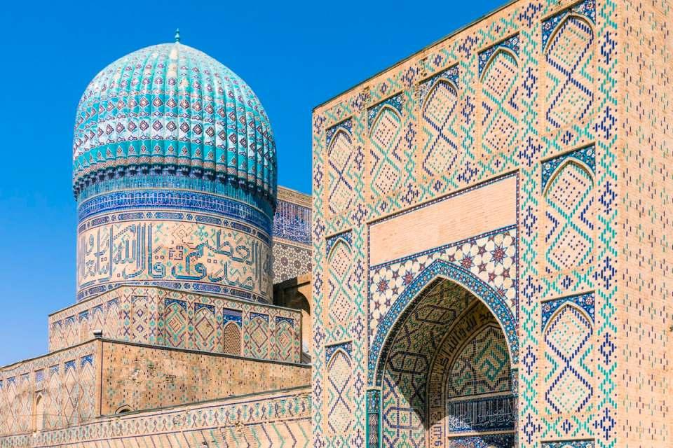 Mezquita de Bidi Khanum - visitar samarcanda