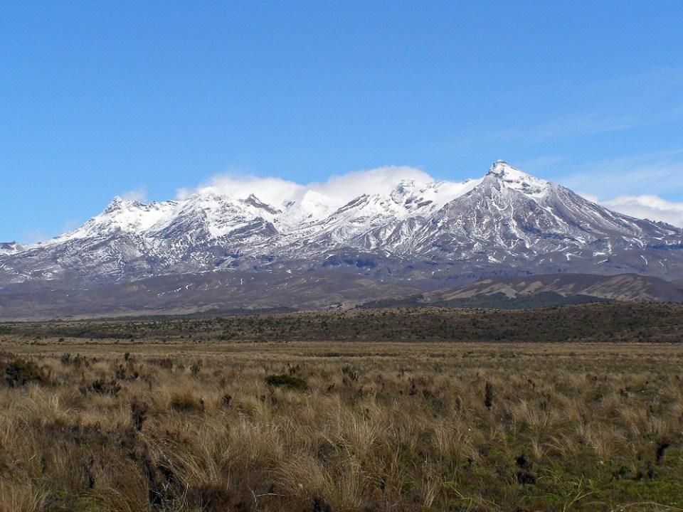Monte Ruapehu, en Nueva Zelanda