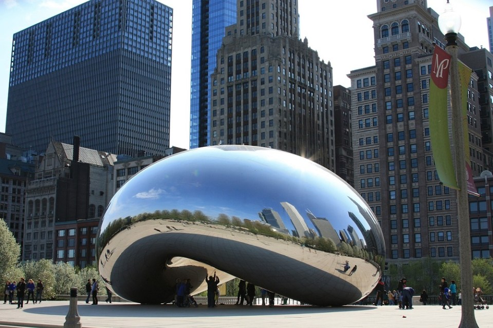 Cloud Gate, conocida como The Bean, en Chicago