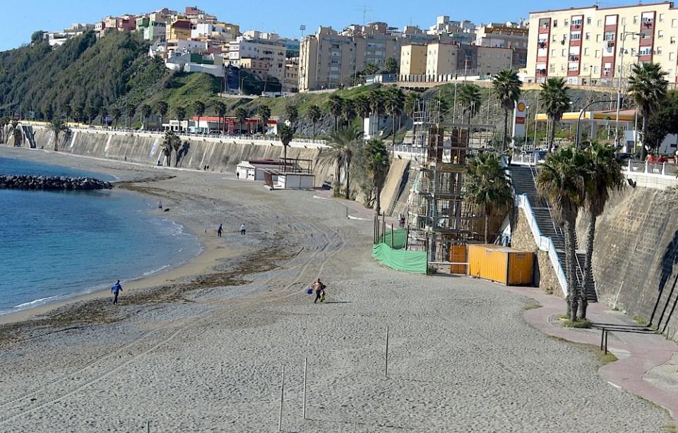 Ir a la playa de El Chorrillo en Ceuta