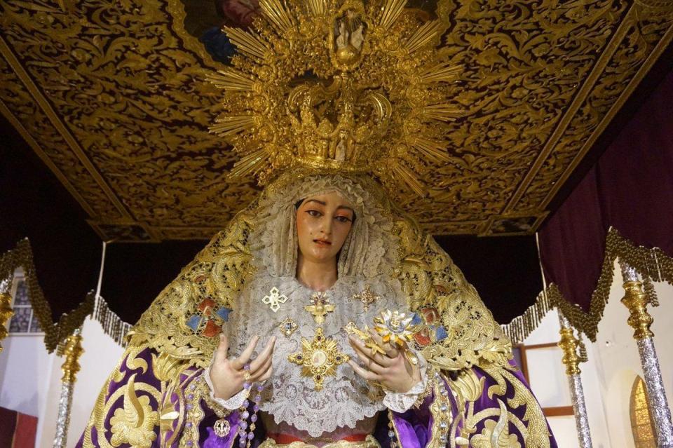 Virgen de la Trinidad, de las más bonitas de la Semana Santa de Málaga