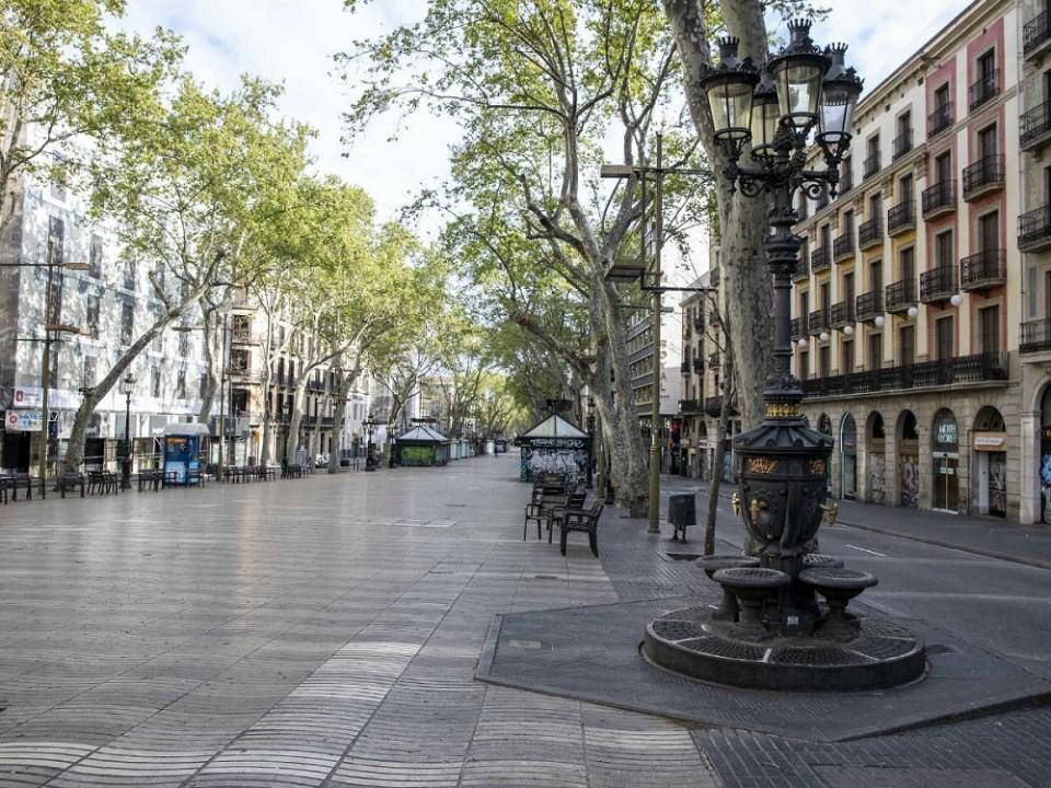 Principales ciudades de España en confinamiento