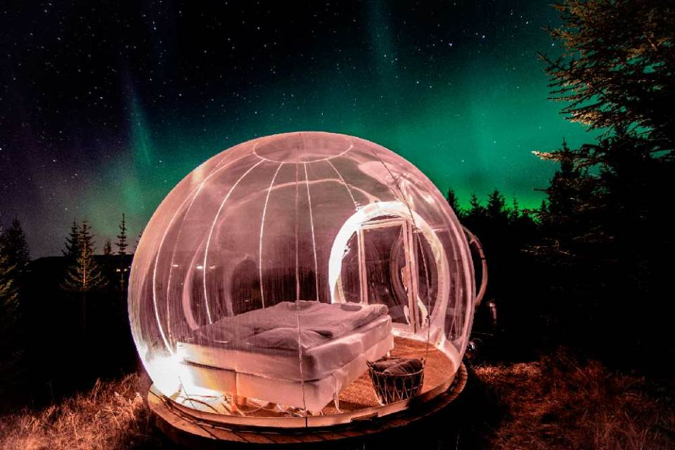 Hotel burbuja en Islandia