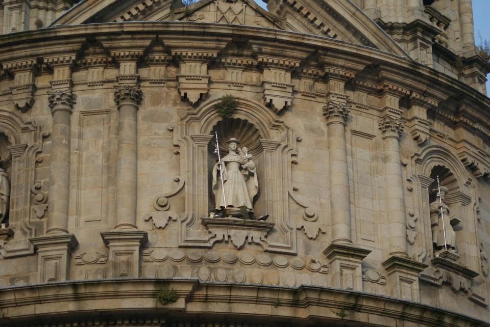 Detalle de fachada de la iglesia de la Peregrina