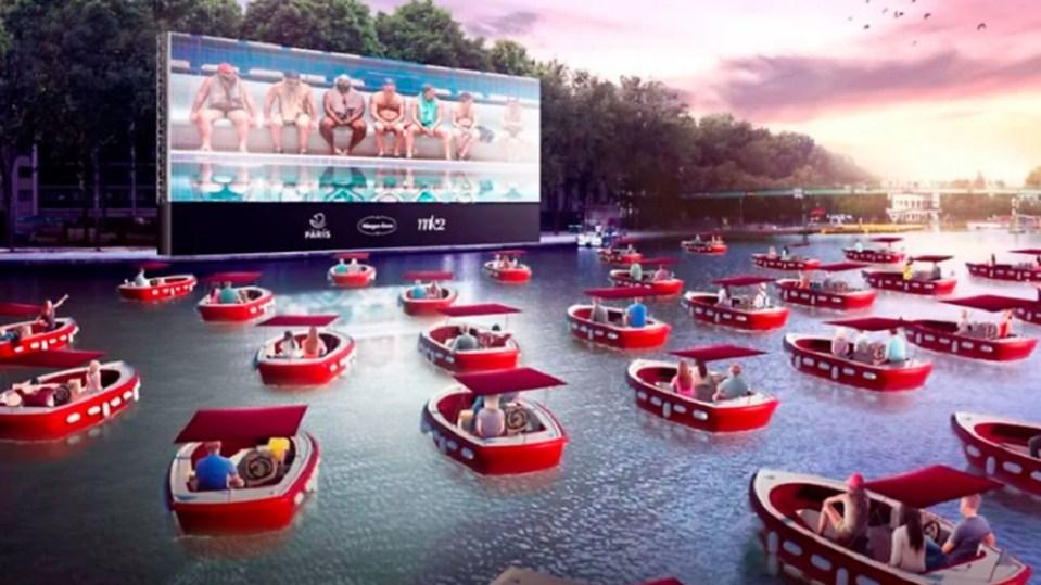 Cine sobre el agua en París