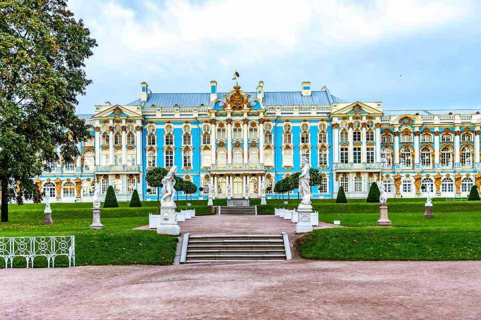 Palacio de Catalina, uno de los palacios reales de San Petersburgo