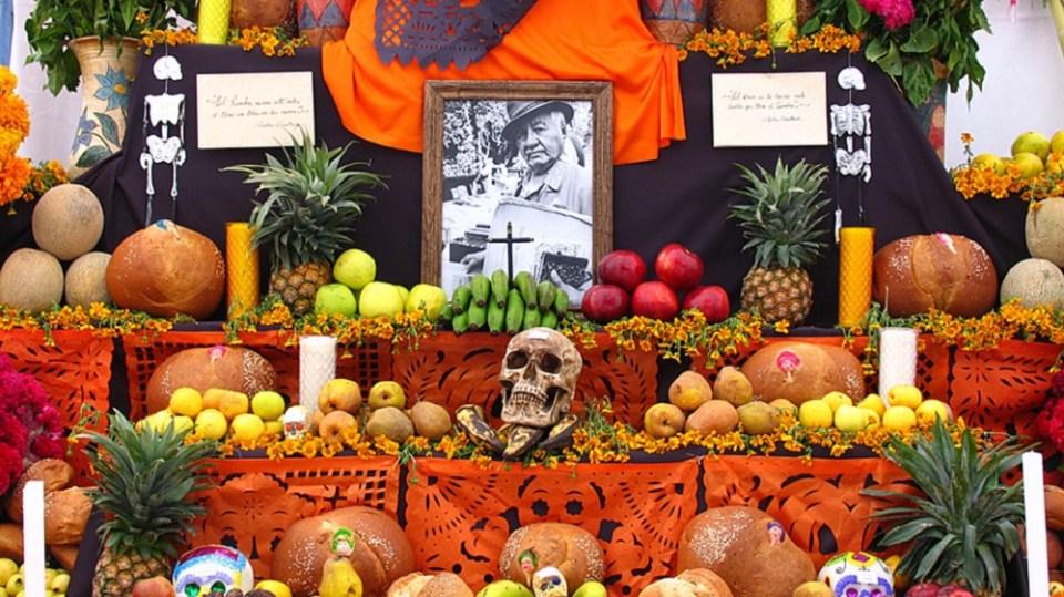 Los altares de muertos son muy típicos de esta festividad