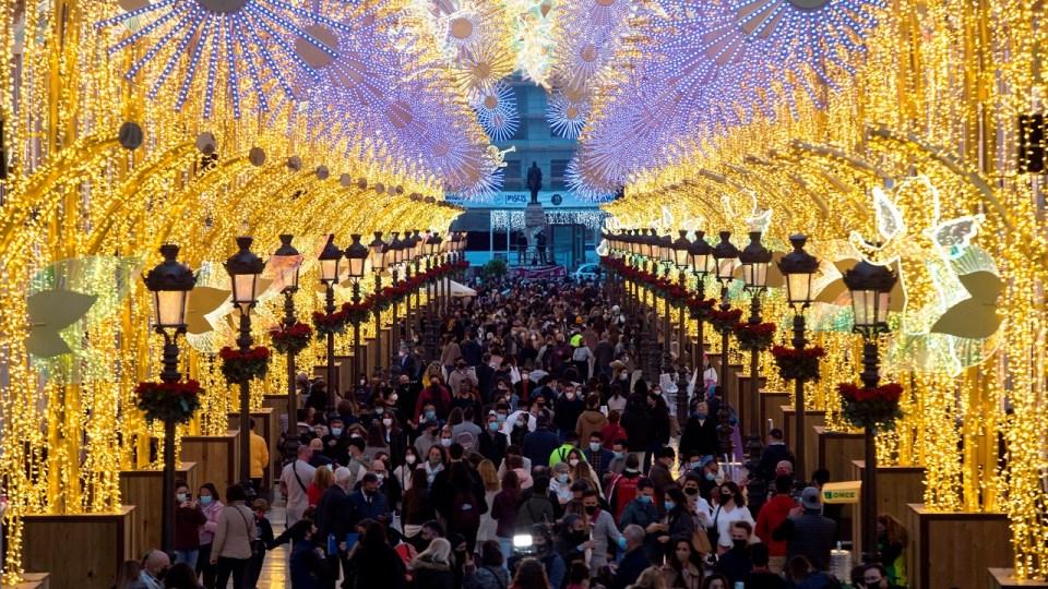luces espectaculares en málaga, las mejores luces navideñas de España