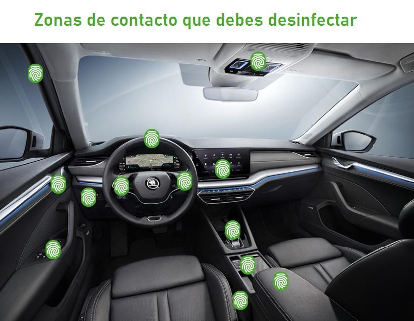 desinfectar el coche para evitar el coronavirus