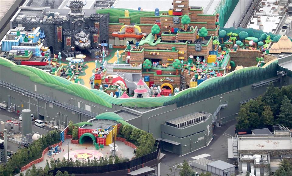 El parque temático Super Nintendo World se encuentra en Universal Studios de Japón
