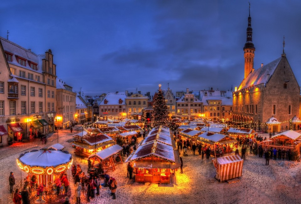 Tallín es una de las ciudades de Europa más visitadas en Navidad