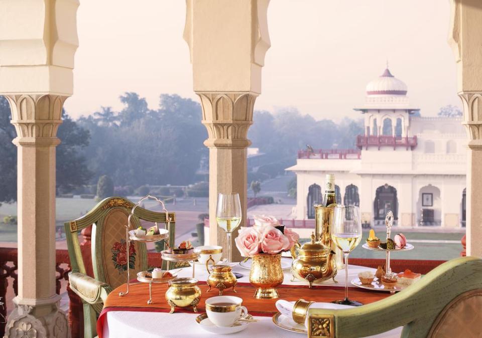 Palacio Taj Rambagh en Jaipur hoteles más lujosos en India