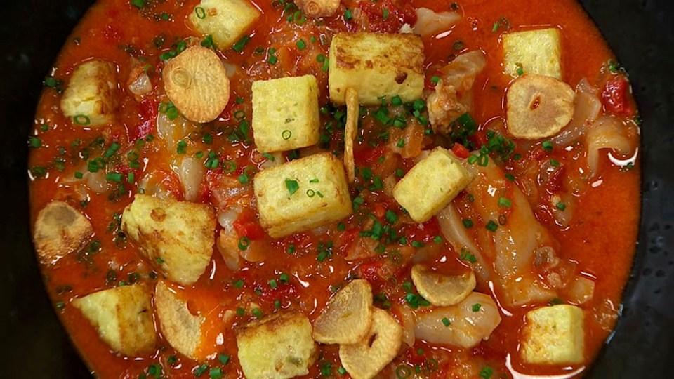 El bacalao al ajo arriero es muy típico de la gastronomía de León