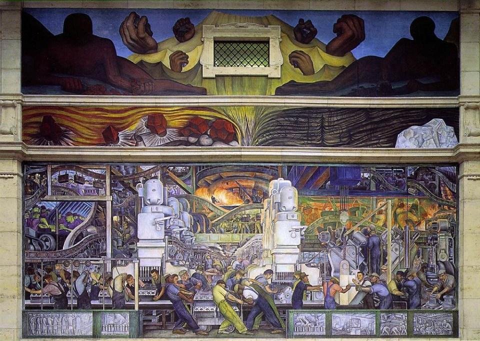 ¿Qué visitar en Detroit? ¡No te pierdas los murales de Diego Rivera!