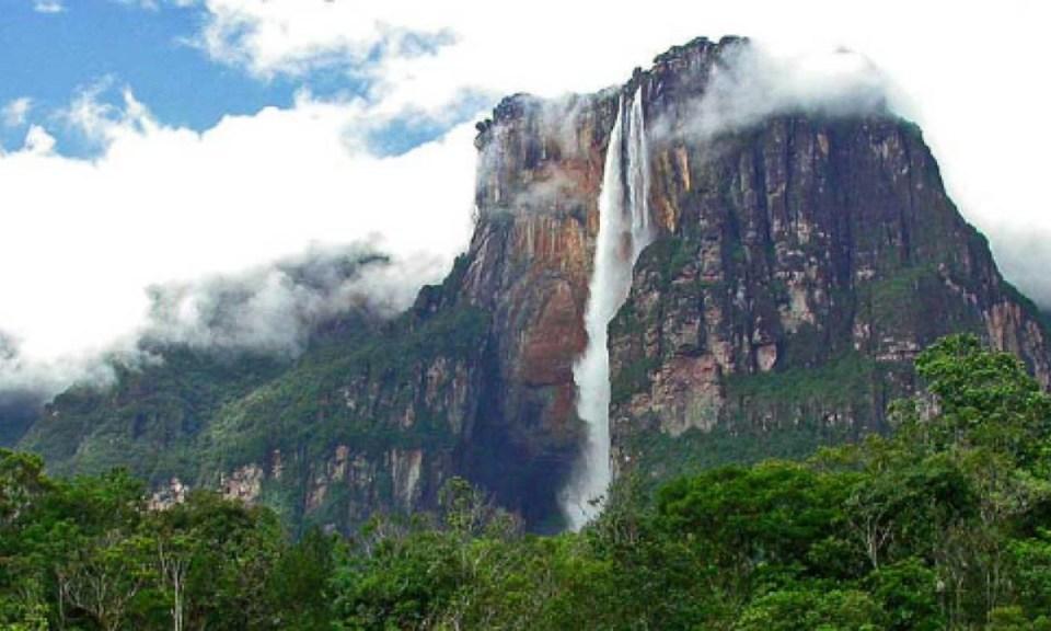 Salto Ángel, uno de los atractivos turísticos en Venezuela