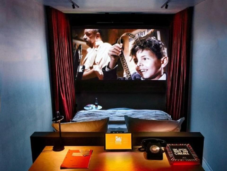 El hotel está inspirado en la película Cinema Paradiso