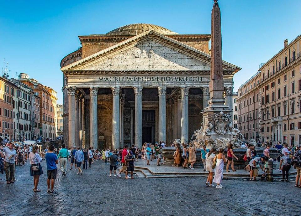 El Panteón de Agripa es uno de los monumentos de Roma más concurridos