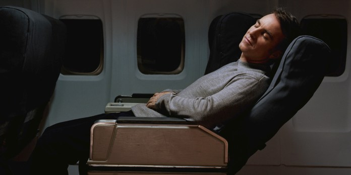 Image result for airplane sleeping