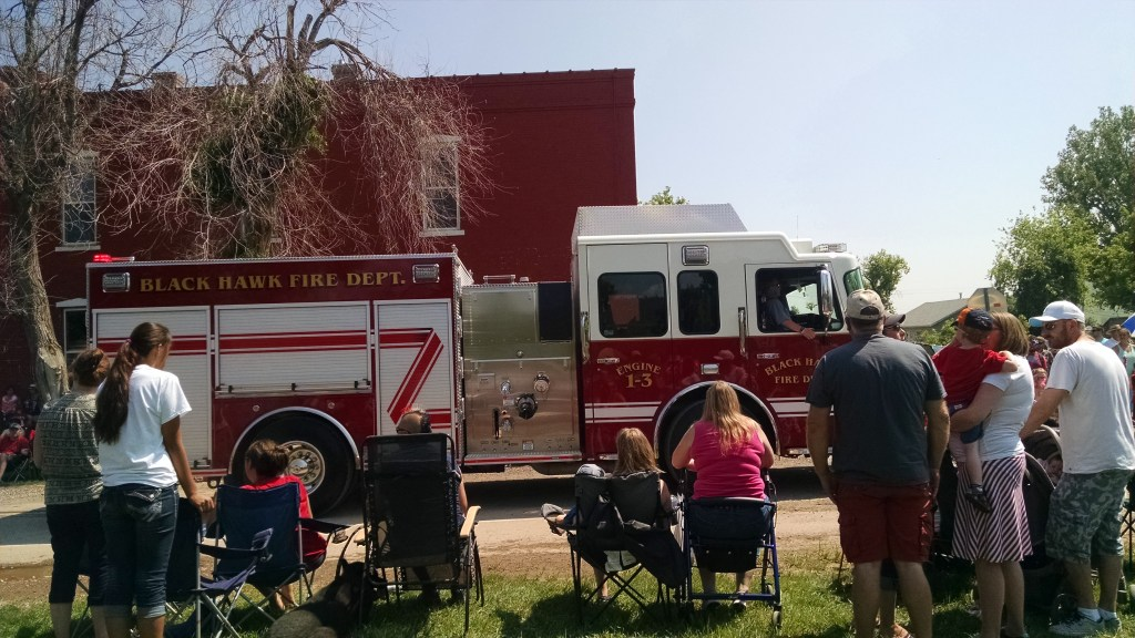 No parade is complete without the firetrucks!