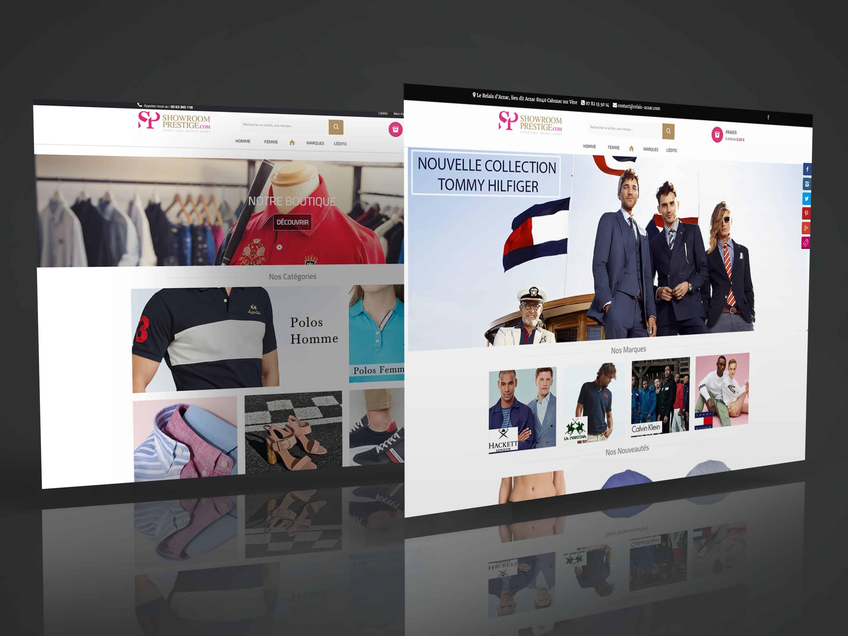 Webdesign Showroom Prestige Lughart