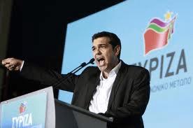 Tsipras in un comizio greco