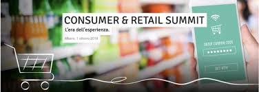 Incontriamoci al Consumer & Retail Summit 2019 – Milano, 1 ottobre 2019