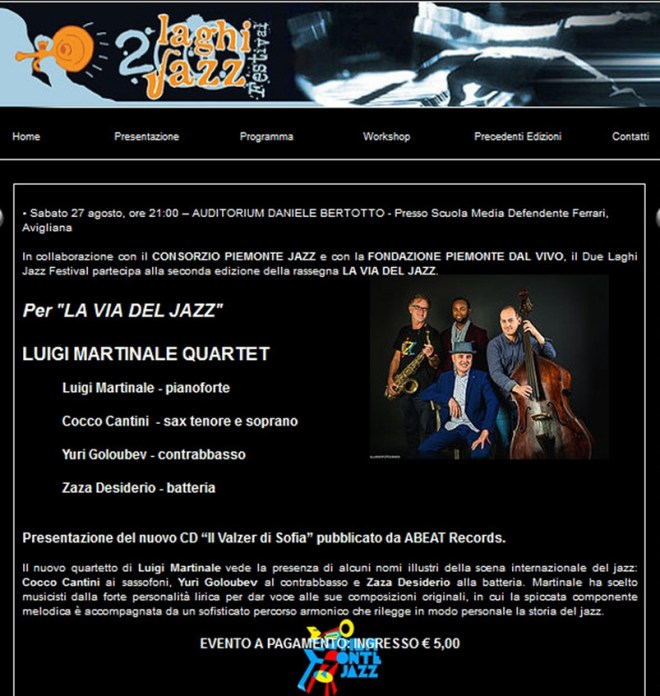 Due laghi jazz Festival Avigliana