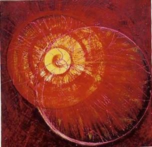 arch.n. 570 I colori della coscienza Affresco ad encausto su tavola, cm 42x44 - anno 2003