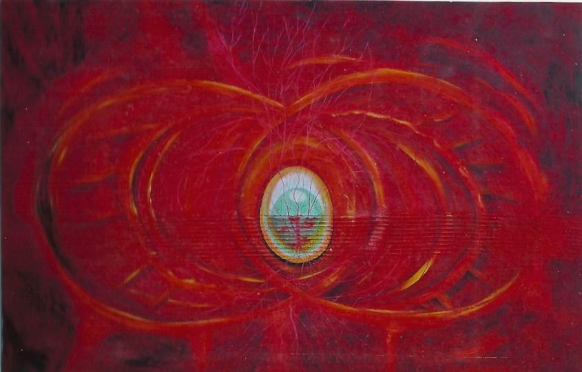 arch.n. 569 I colori della coscienza Affresco ad encausto su tavola, cm150x100 - anno 2003