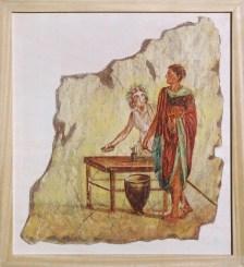 arch.n. 167 Encausto su tela, cm 55x61 – anno 2001