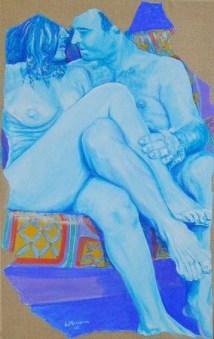 arch.n.152 Attesa affresco su tela - cm 52x84, anno 2001