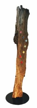 804 Il bosco corteccia, carta di riso + ferro smaltato, cm 70 x 240 ca – anno 2004