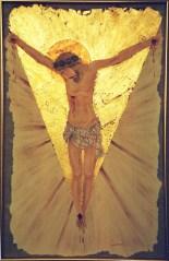 arch.n.117 Cristo, affresco su tela + fglio oro, cm 73x115 – cm 1999