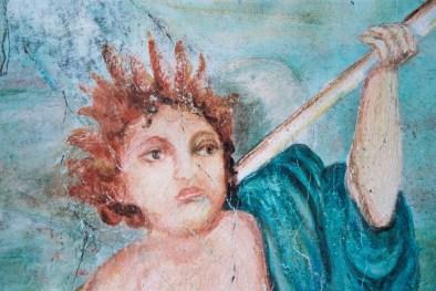 particolare di venere Encausto su tela, cm 300x150 – anno 2001