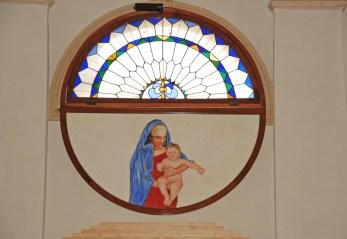 Maternità affresco h cm 140 ca. Chiesa del Cristo a Castelfranco Veneto