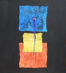arch.n. 711 Spazio interazione 1 Affresco su tavola + tele cm 100x110 – anno 2004