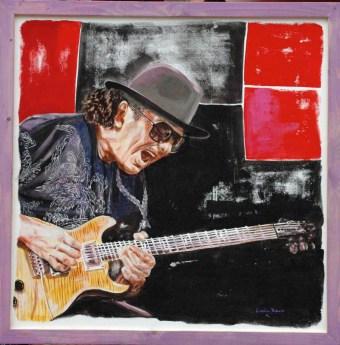 arch.n. 244 Carlos Santana affresco su tela, cm100x100 – anno 2007